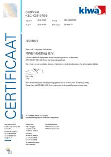 Certificaat | RWB Almelo